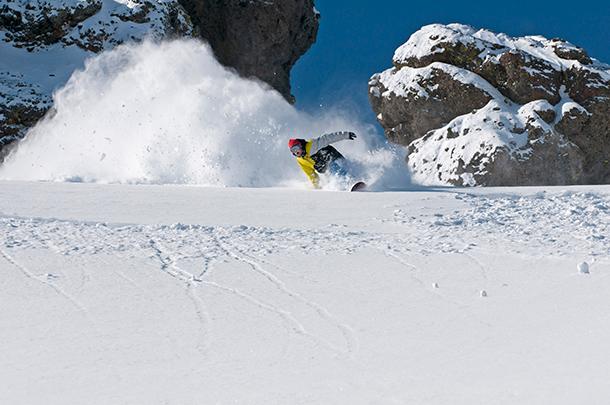 600 inches… average. Brendon Drury samples the Sierra's finest. Aurora Photos / Kirkwood Mountain Resort