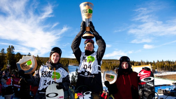 Men's Dew Tour Slopestyle Podium